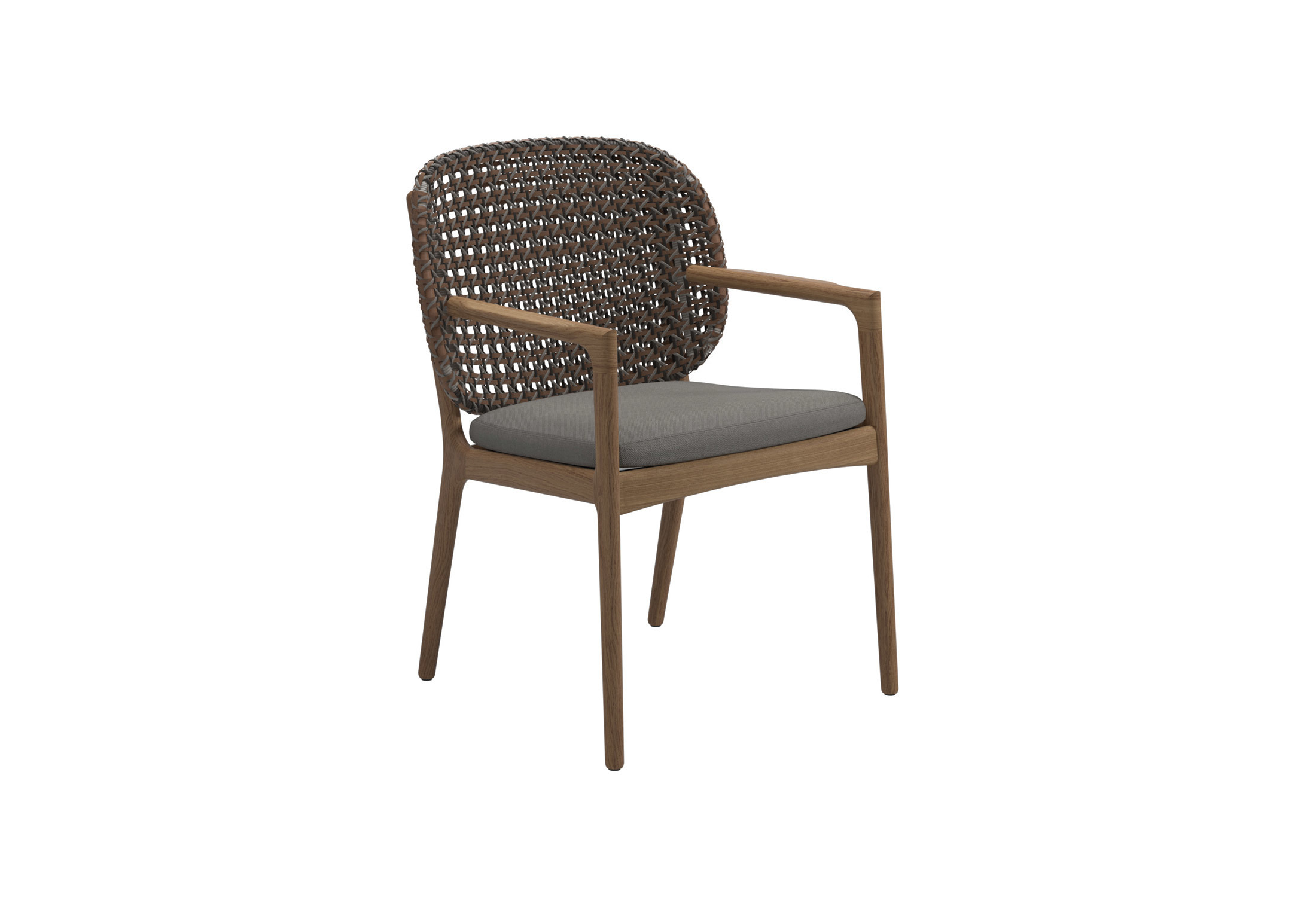 dining chair with armrest patio cushion replacements kay by gloster furniture stylepark