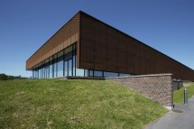 Perforated Sun Screens In Corten Sports Hall Ringsted