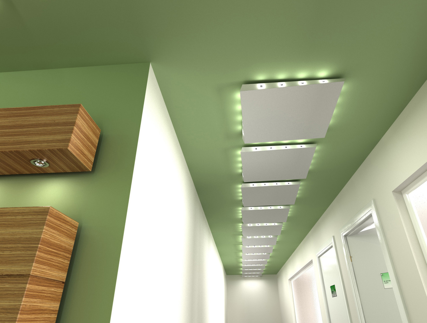 HELIX floating ceiling panel by Lindner Group  STYLEPARK