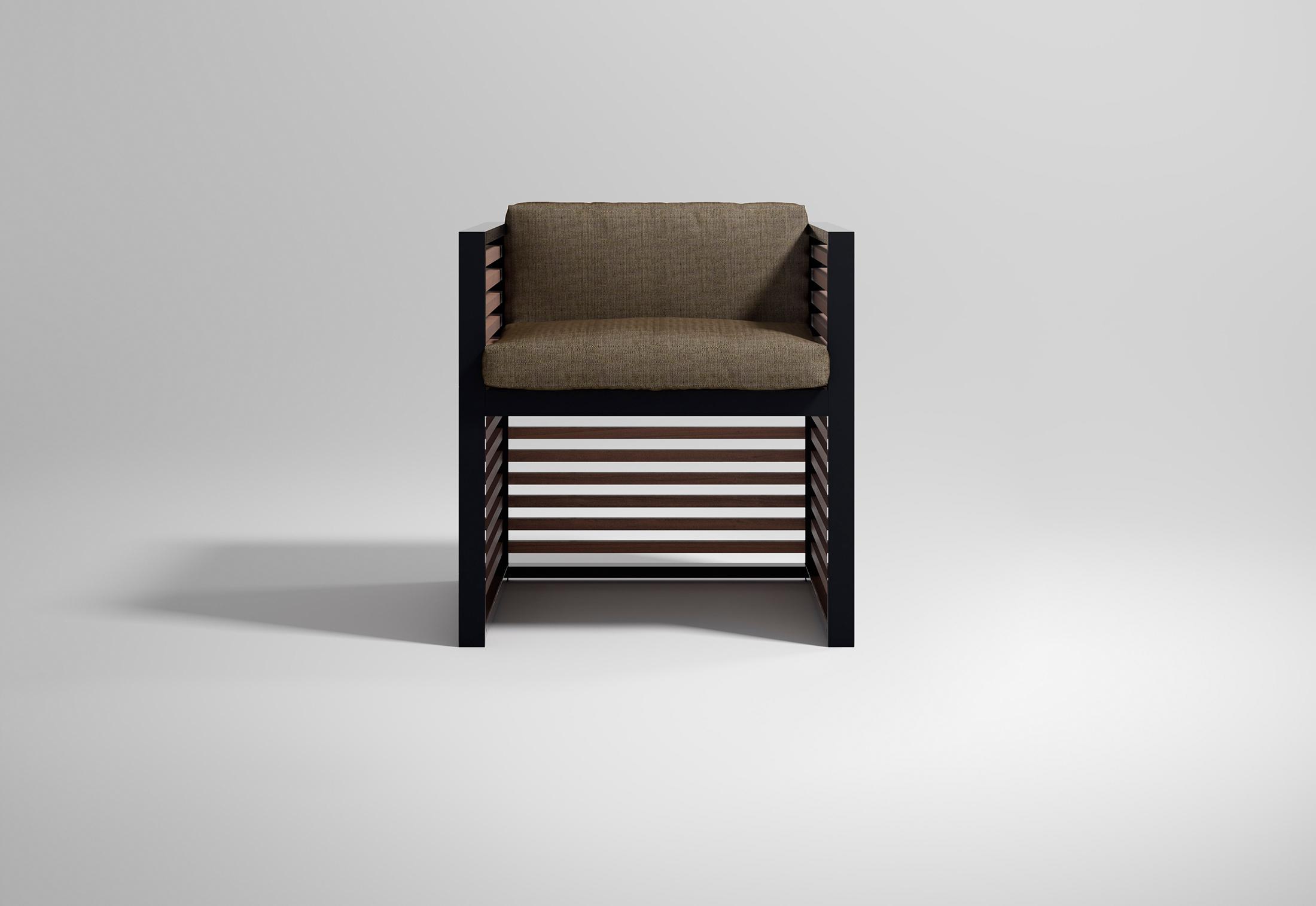 gandia blasco clack chair vaughn tufted slipper dna teak armchair by stylepark