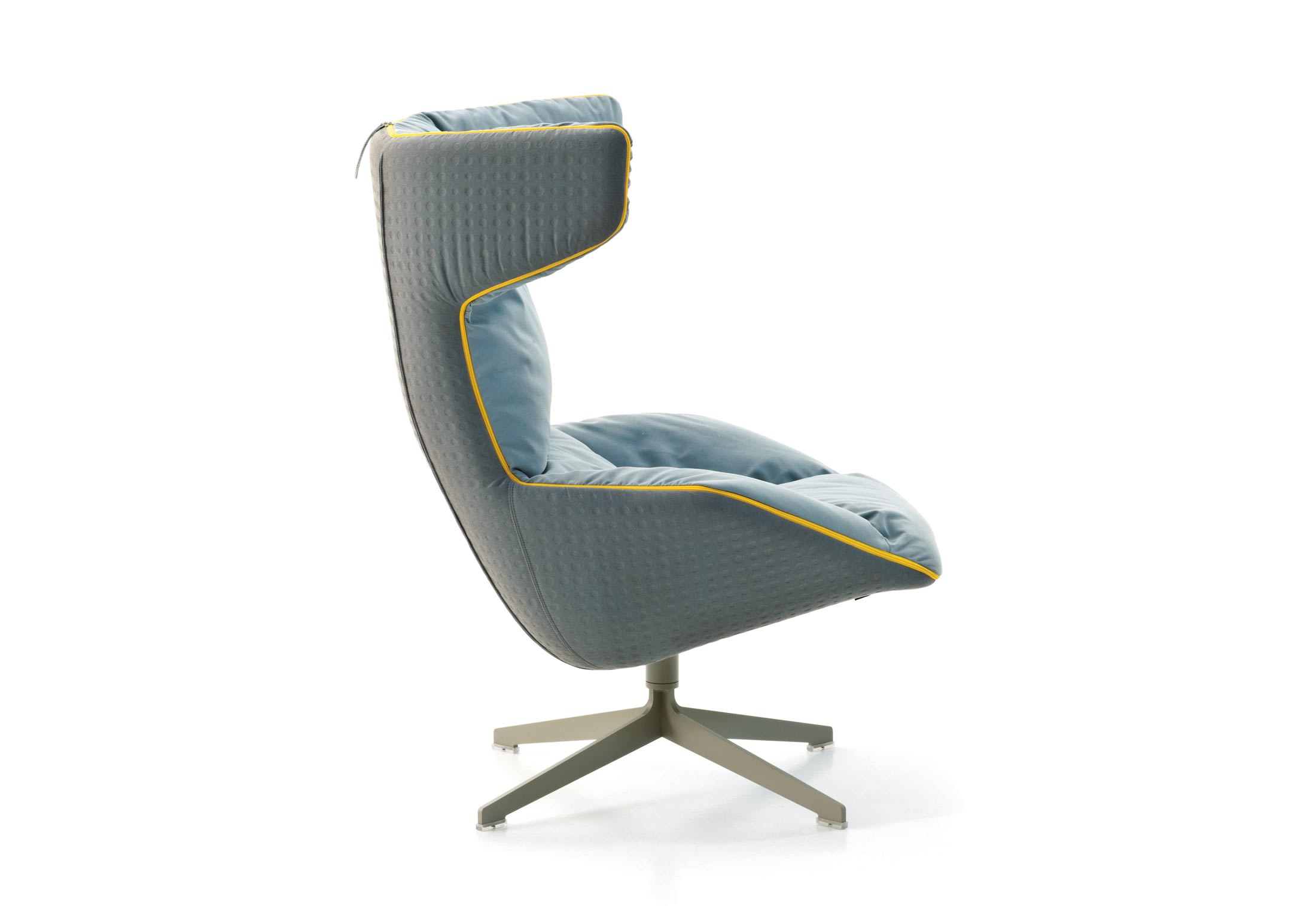 Take A Soft Line For A Walk Swivel Armchair by Moroso  STYLEPARK