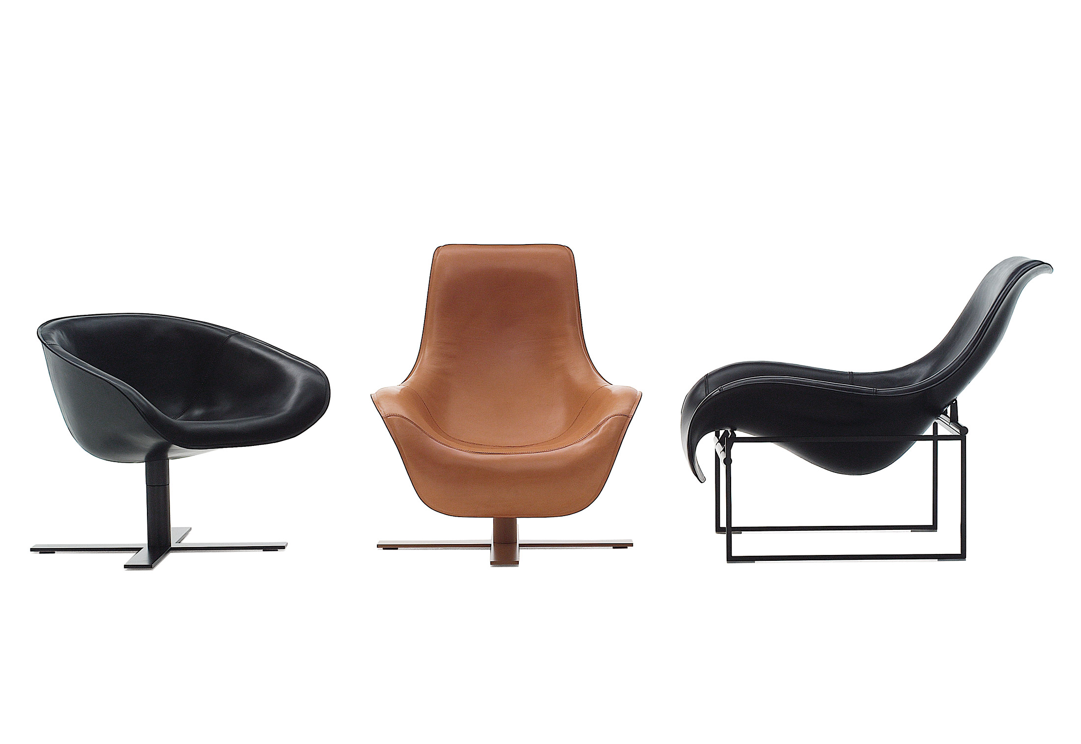 revolving easy chair unfinished wood dining chairs mart armchair by b andb italia stylepark