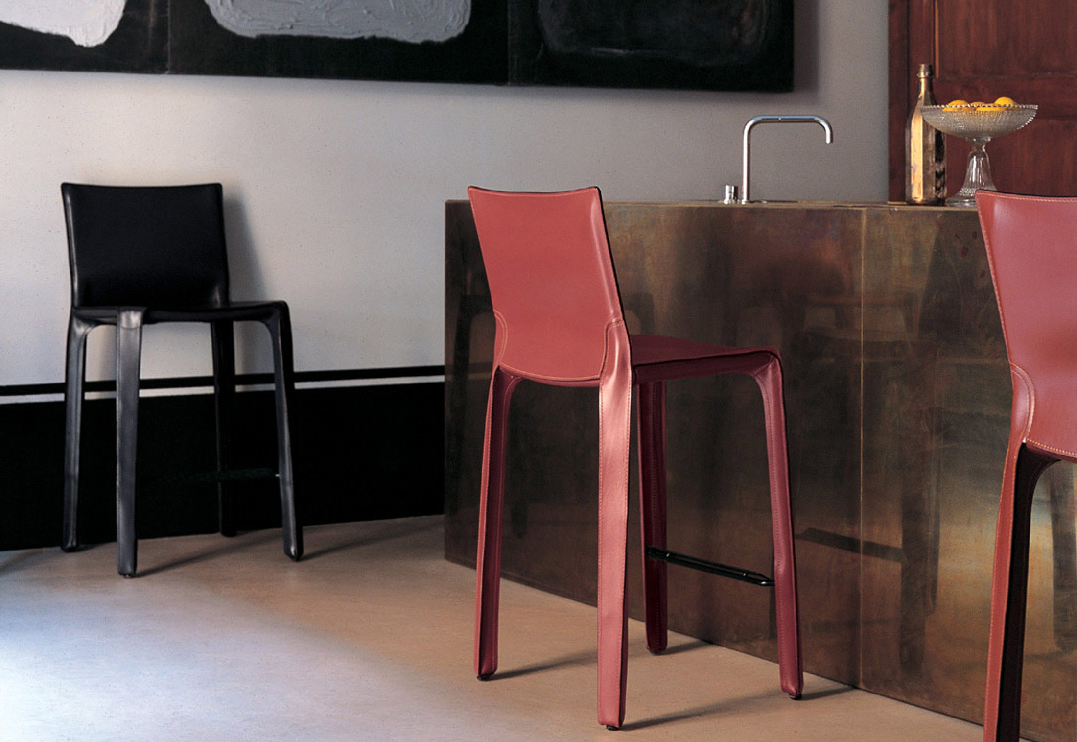 chair stool with footrest folding in pakistan cab by cassina | stylepark