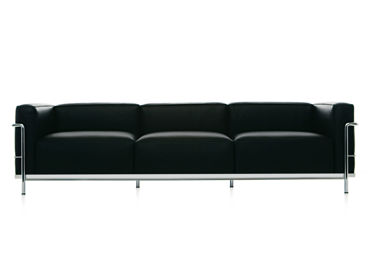 lc3 sofa leather bed queen 3 seater by cassina stylepark