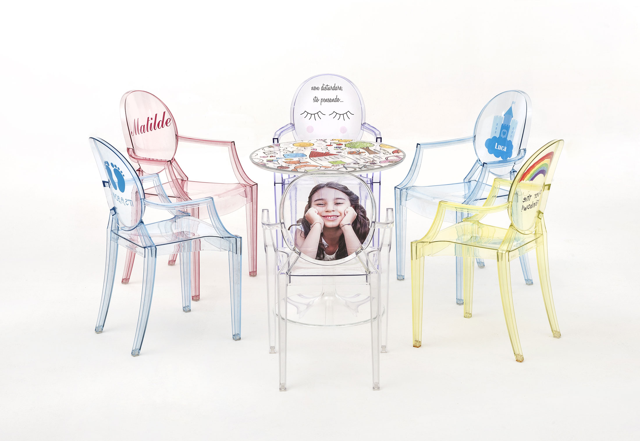 kids ghost chair bitty baby high shapes lou by kartell stylepark