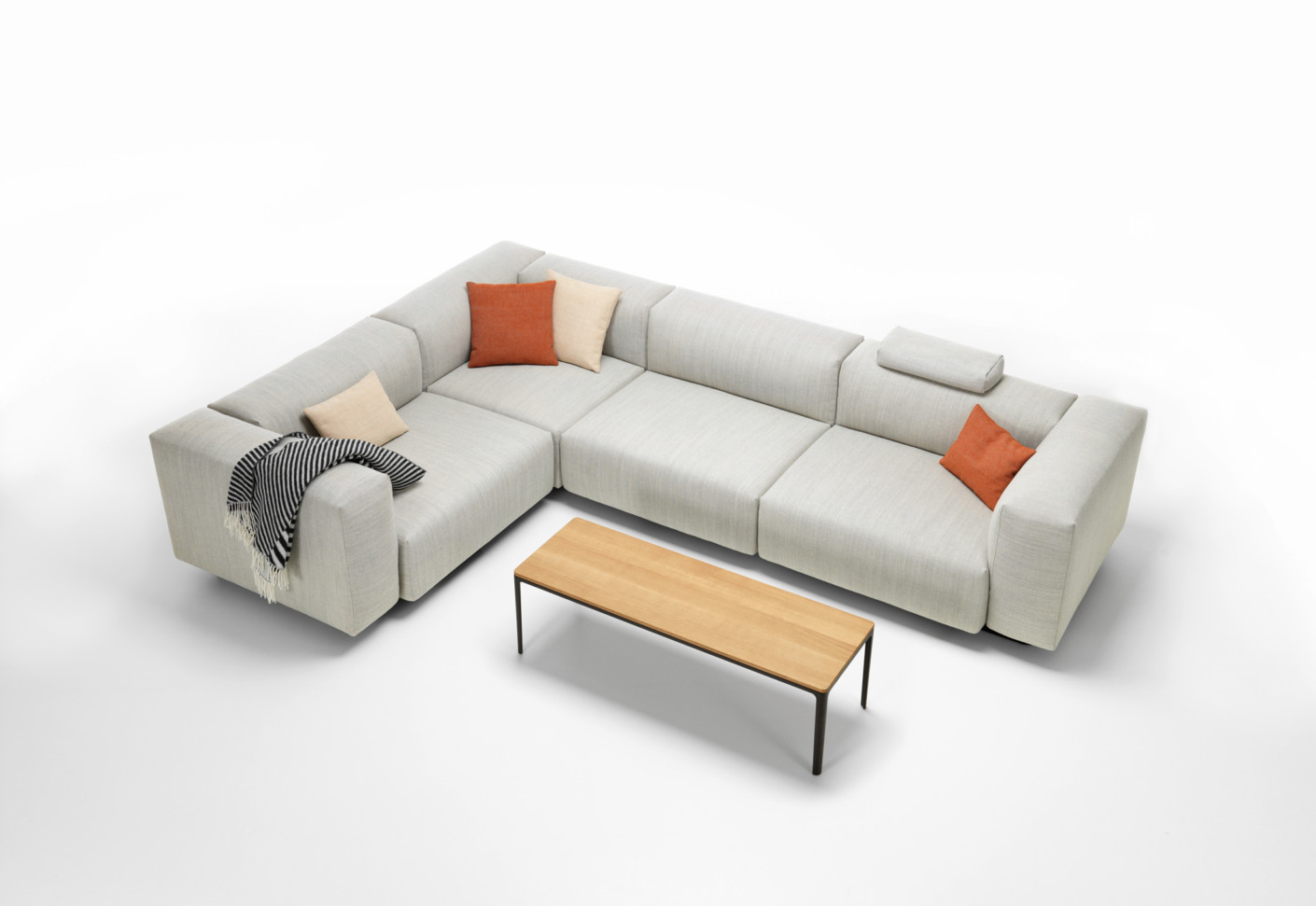vitra sofa modular hamptons top grain leather reclining loveseat and chair set soft by stylepark