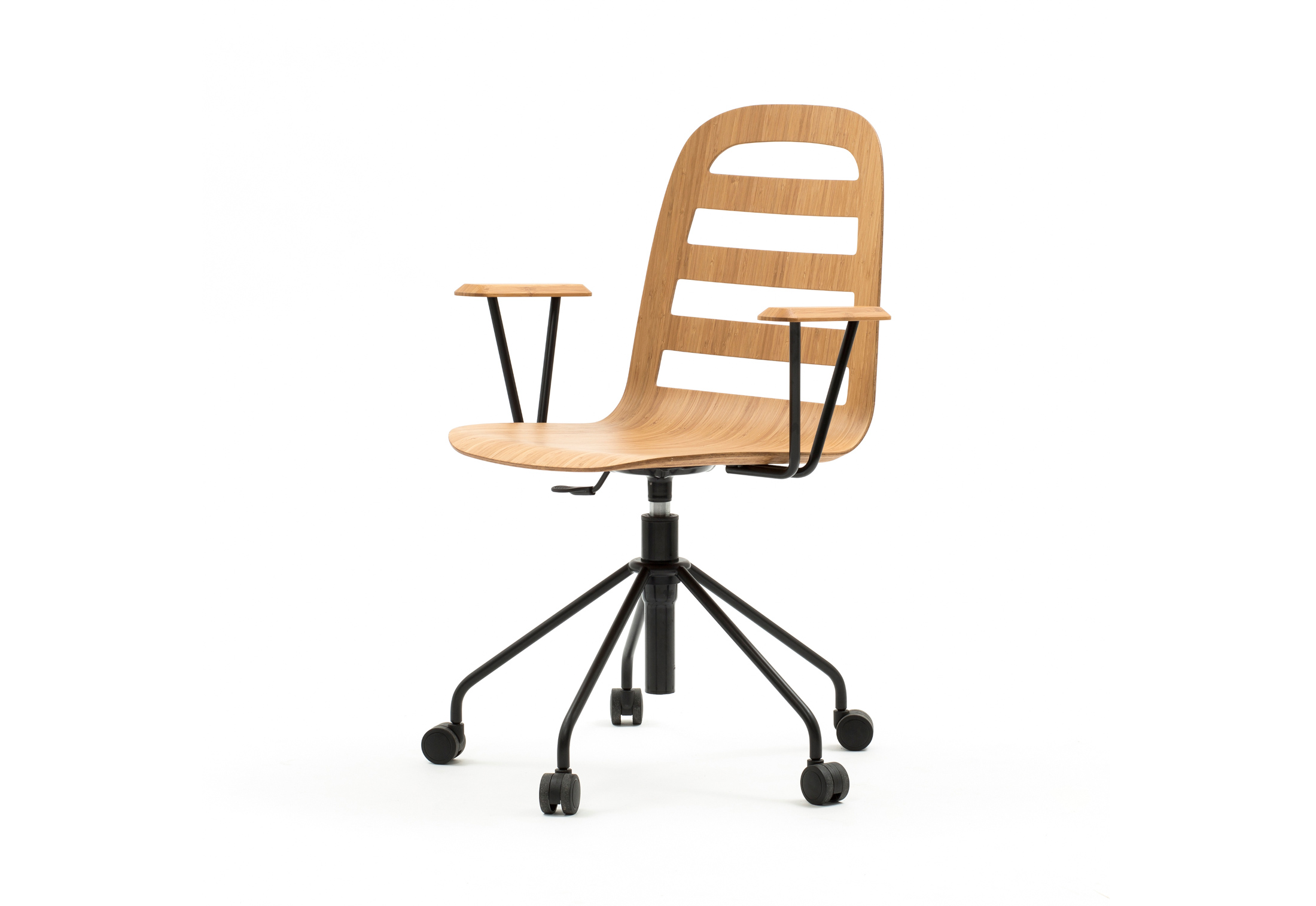 revolving chair without wheels colorado ski chairs smusso swivel with arms by discipline stylepark