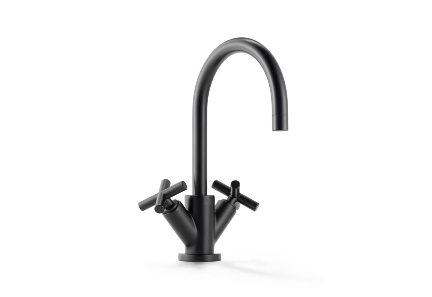 Tara black singlehole basin mixer by Dornbracht  STYLEPARK