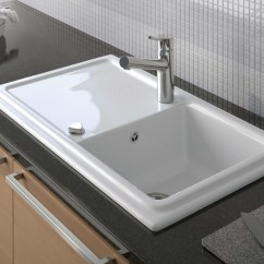 Kitchen Sinks With Drainboard Built In Where To Buy Curtains Cassia Sink By Duravit | Stylepark