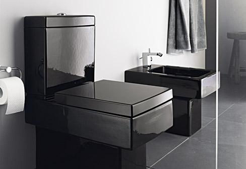 Vero Black stand toilet by Duravit  STYLEPARK