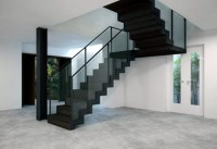 Satin black staircase by EeStairs | STYLEPARK