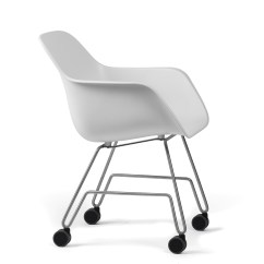 White Rolling Chair Country Dining Chairs Captain S By Extremis Stylepark