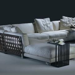 Mini Sectional Leather Sofa Roll Back Cestone By Flexform | Stylepark