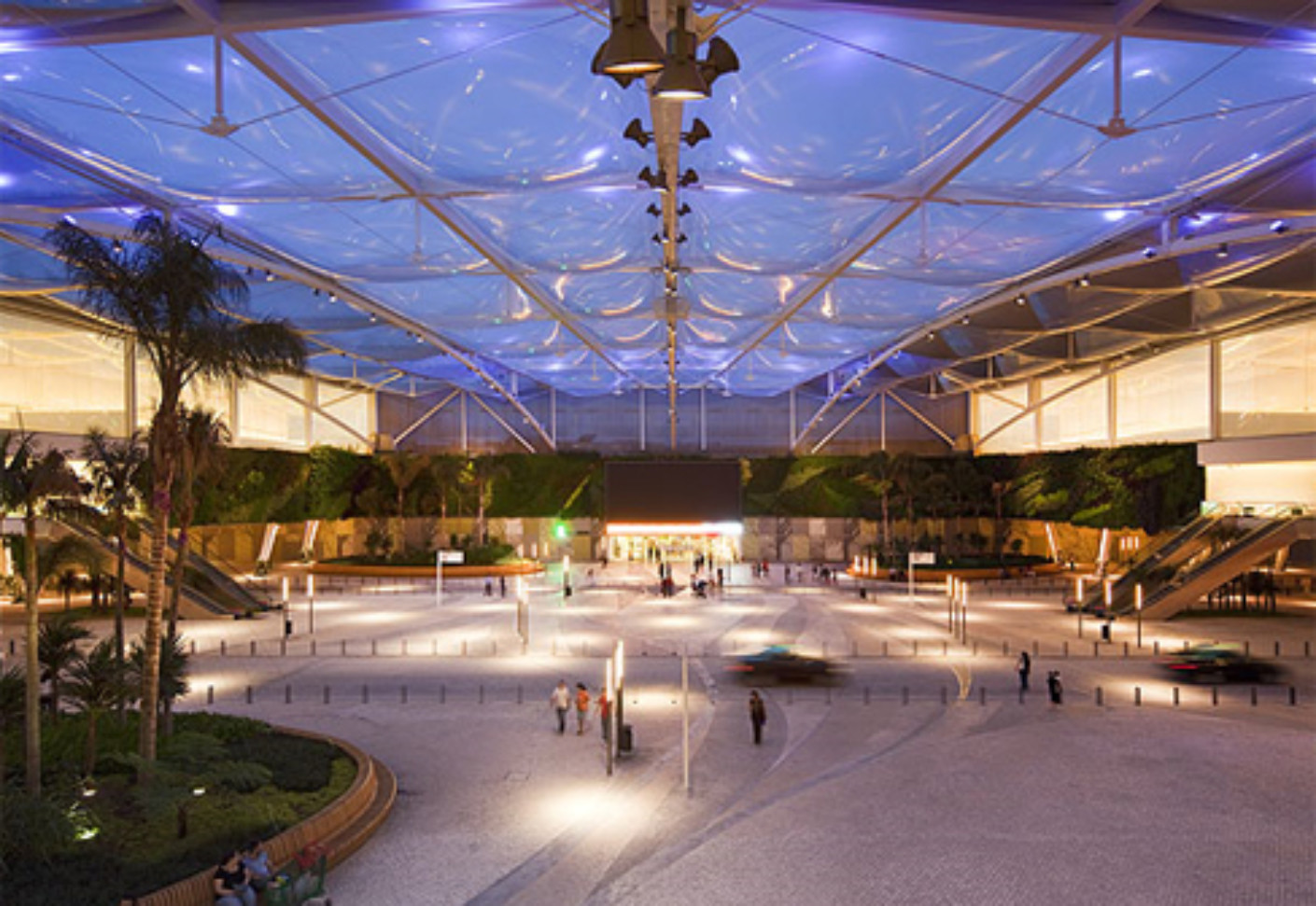 Etfe Foil Cushions Shopping Complex By Hightex Stylepark