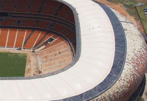 Ptfe-coated Sand Coloured Glass Fabric Soccer City Stadium Hightex Stylepark