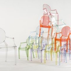 Kids Ghost Chair Folding Wood Chairs With Padded Seat Lou By Kartell Stylepark