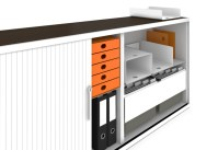 LO One acoustic roll-front cabinet by Lista Office LO ...