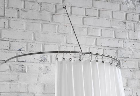 Shower Curtain Semi Circle Rail DR 140 HW By PHOS STYLEPARK