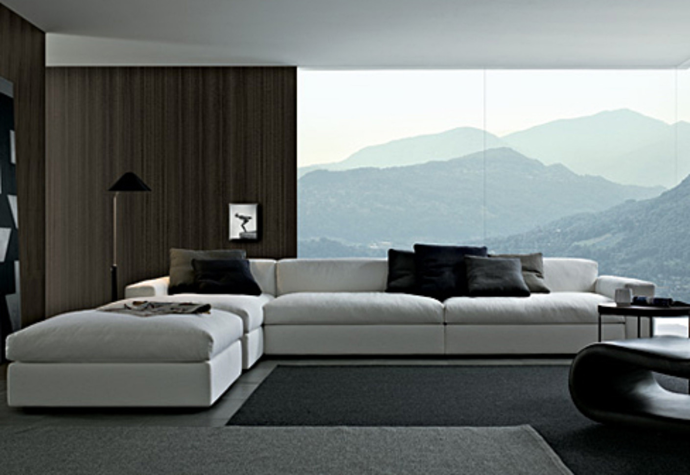 dune sofa atherton home manhattan convertible futon bed and lounger by poliform | stylepark
