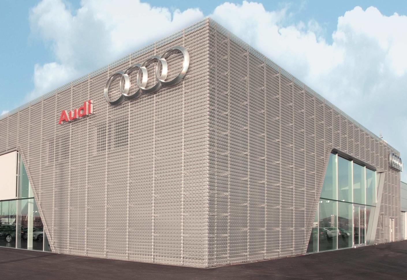 Perforated cladding Audi Bitterfeld by RMIG  STYLEPARK