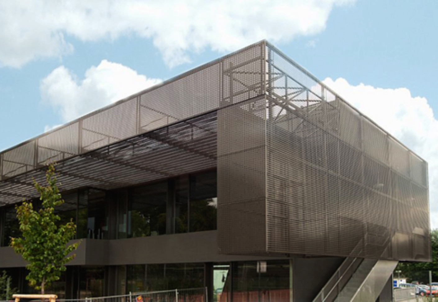 Perforated Cladding Havellandschule In Berlin By Rmig
