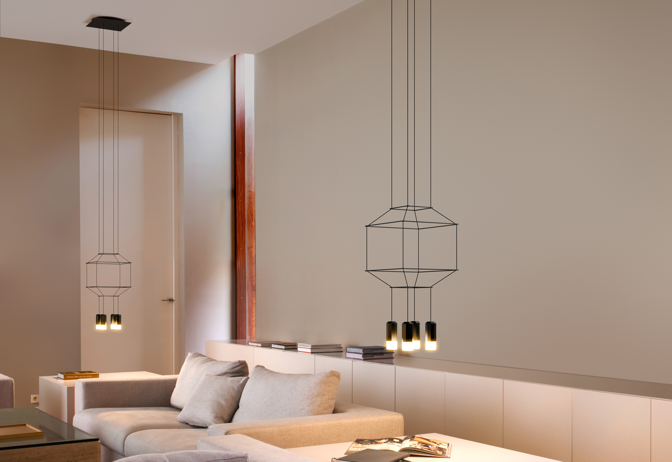 kitchen ceiling light fixture cabinet makeover wireflow by vibia | stylepark