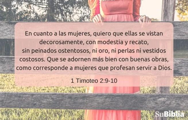 1 Timoteo 2:9-10