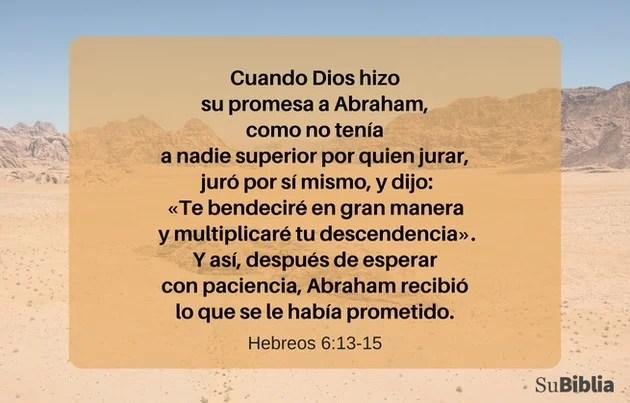 Hebreos 6:13-15