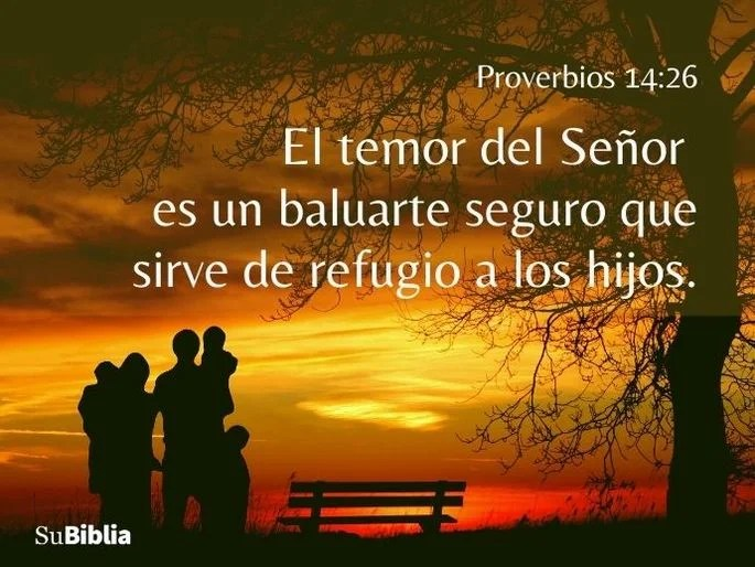 photo Proverbios 14 26 su biblia