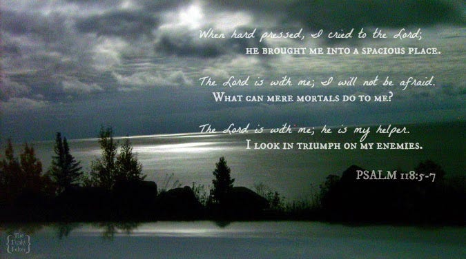 The Funky Felter: Psalm 118:5-7 Inspirational Bible Verse Image