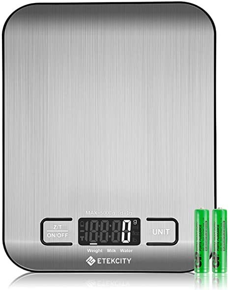Amazon.com: Etekcity Food Kitchen Scale, Gifts for Cooking, Baking, Meal  Prep, Keto Diet and Weight Loss, Measuring in Grams and Ounces, Small, 304  Stainless Steel: Kitchen & Dining