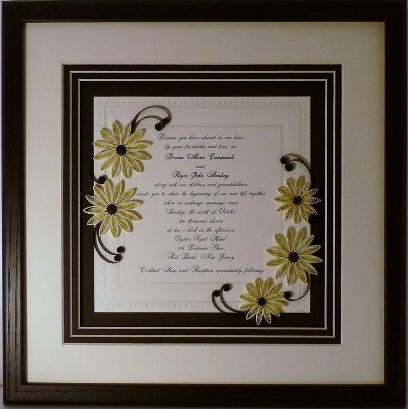 Wedding Keepsakes Collection  Quilling by Sandra Whites