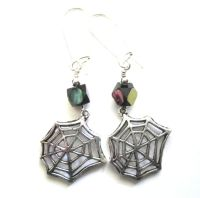 Spider Web Gothic Dangle Earrings - Vamps Jewelry Gothic ...