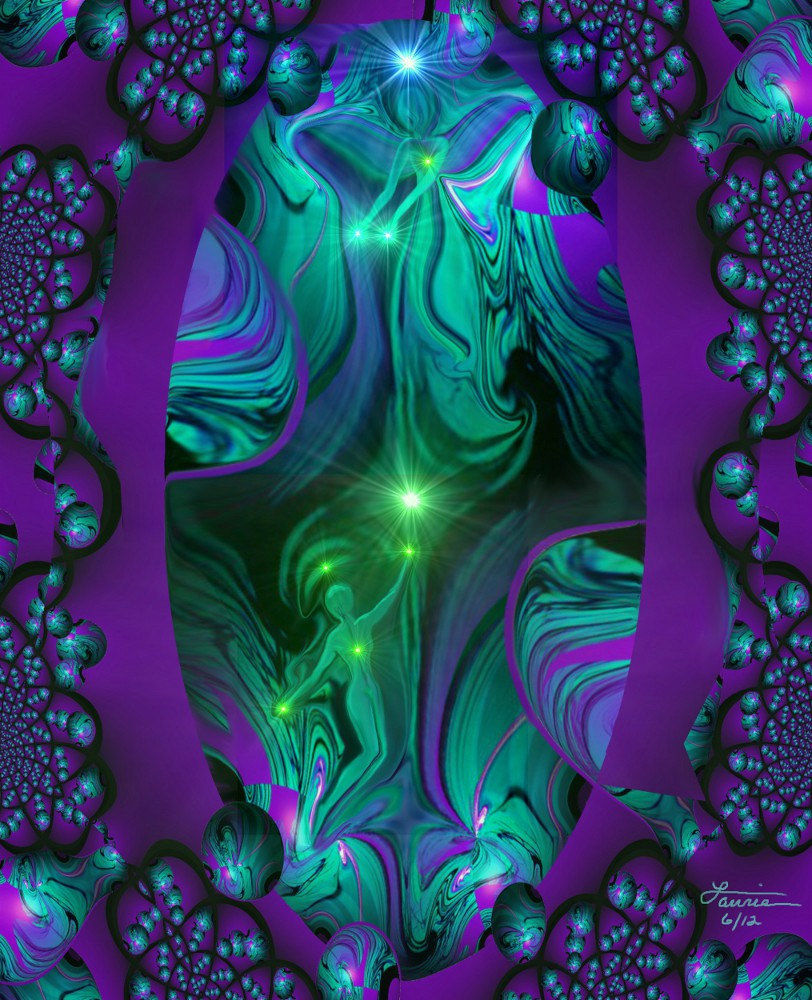 Purple Wall Decor, Abstract Art, Third Eye, Spiritual