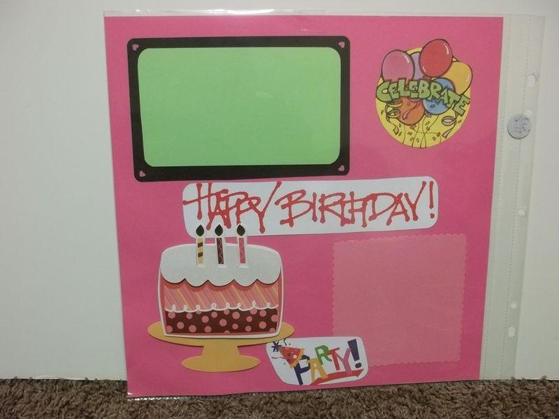 Happy Birthday Premade Scrapbook Page Premade Scrapbook