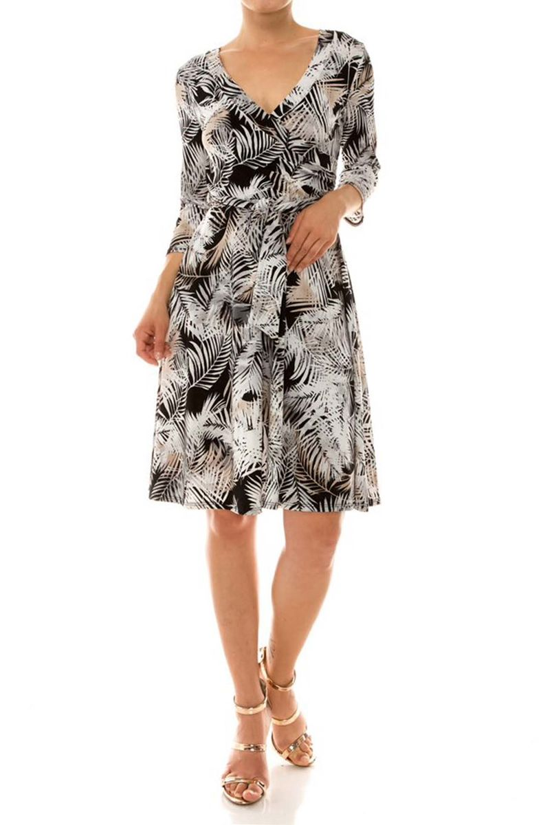 Silver Grey Wrap Dress