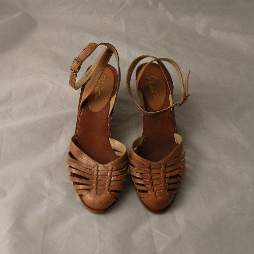 70s Huarache Wedge Sandals 75  Pretty Sweet Vintage