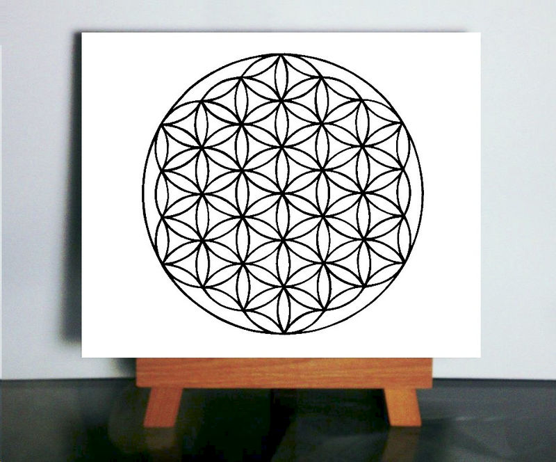 Sacred Geometry Art, Flower Of Life