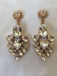 Crystal Bridal Statement Earrings Collection
