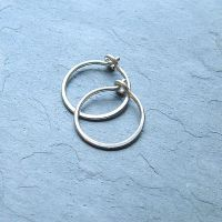 Small Sterling Silver Hoop Earrings Handmade Silver Hoops ...