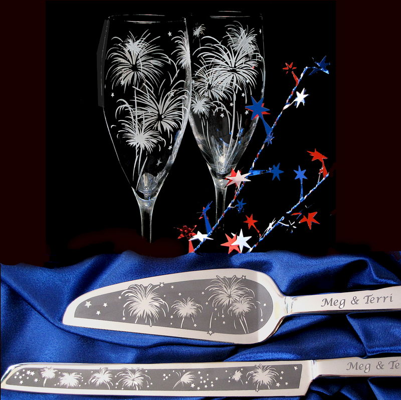 New Years Eve Wedding Personalized Cake Server And
