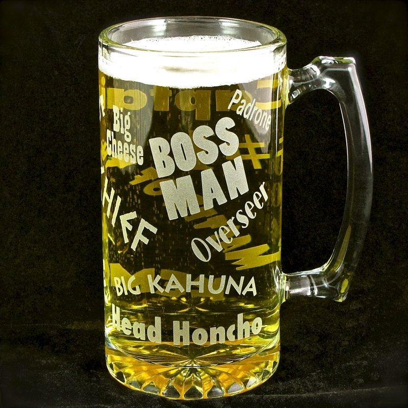 Boss Man Beer Stein Gift For Man Boss Husband Or Dad