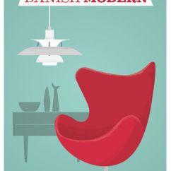 Mid Century Egg Chair Bath Lift Chairs Danish Modern Poster, Arne Jacobsen Print, Art - Restyle Shop