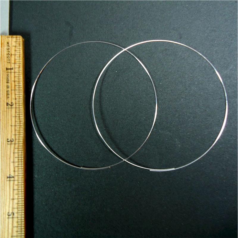 Silver plated 4 inch hoop earrings