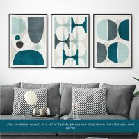 Blue Abstract Wall Art - Living Room Art Blue  Large ...