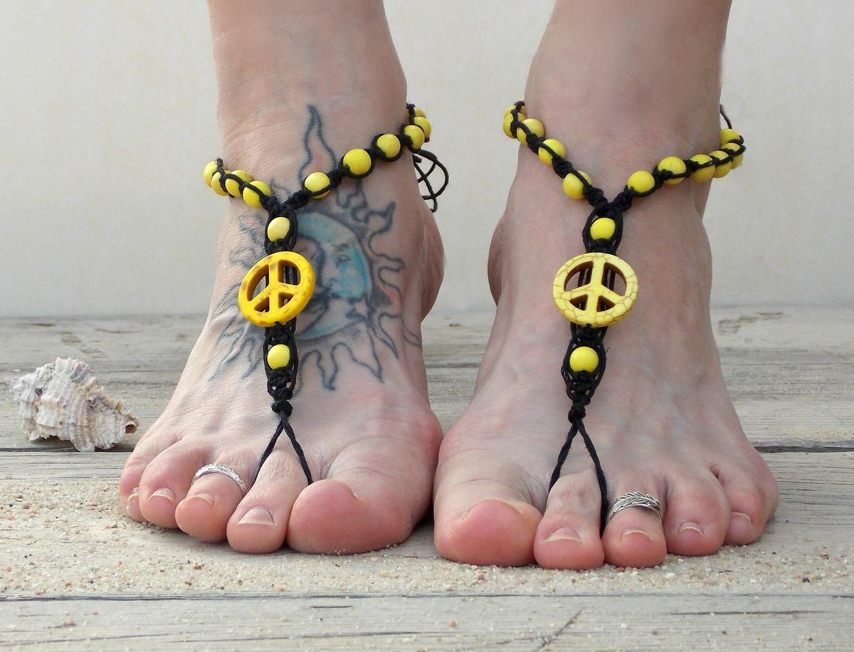 Barefoot Sandals Peace Sign
