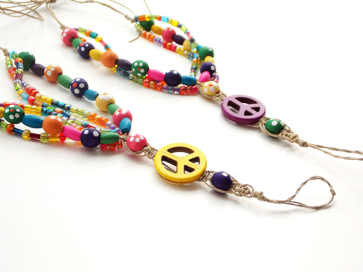 """ Blooming"" Peace Sign Barefoot Sandals - Mojo'"