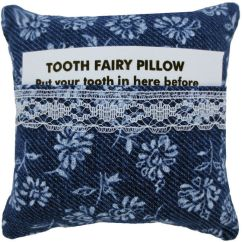 Children S Stuffed Animal Chairs Bedroom Chair Gumtree Melbourne Tooth Fairy Pillow, Navy Blue, Floral Print Fabric, White Lace Trim For Girls - Toy Tents And
