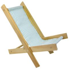 Folding Chairs Wooden Tablet Arm Toy Wood Doll Chair Aqua And White Stripe Fabric Product Images Of