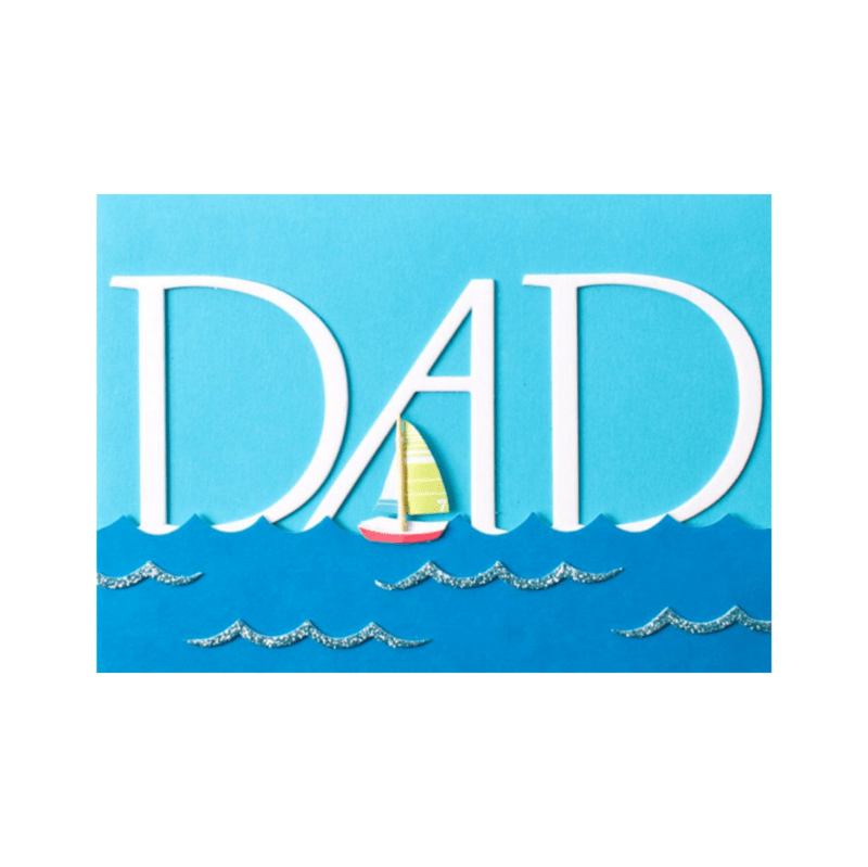 Handmade Dad With Sailboat Amp Ocean Anas Papeterie